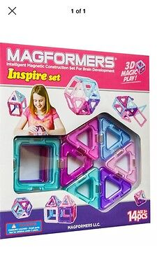 New and Sealed Magformers Inspire Set 14 3D Magic Play