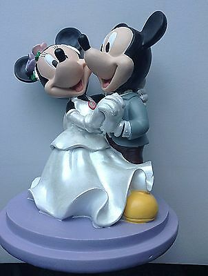 Mickey and Minnie Mouse Bride and Groom WEDDING cake topper