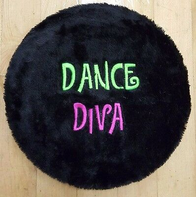 New Stool Cover Black Furry with Dance Diva Embroidery