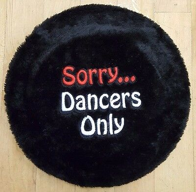 New Stool Cover Black Furry with Dance Embroidery