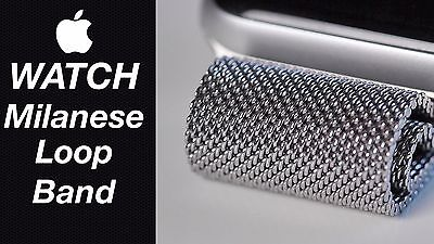 Genuine Official Apple Watch Strap Silver Milanese Loop 38Mm 316L Mj5E2Zm/a