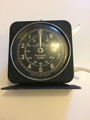 Old Vintage Made In Great Britain Smiths English Clock Systems Interval Timer Nr