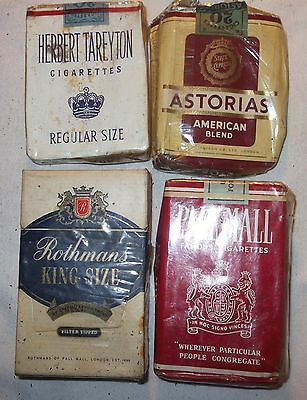 Vintage Live Packets Mixed Lot 4 Makes Cigarettes Pre Health Warning