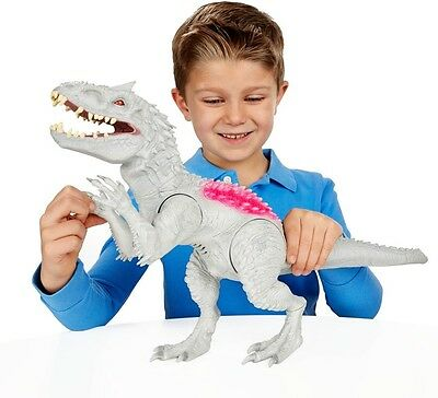 Jurassic World Indominus Rex Dinosaur Lights & Sounds Colour Changing Boys Toy