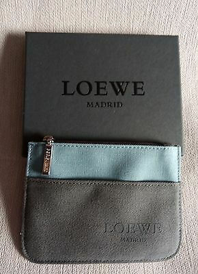 Loewe Purse Wallet Carry On Holder - Monedero Grey And Blue