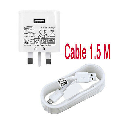 ADAPTIVE FAST CHARGER WALL PLUG CHARGER + CABLE for SAMSUNG Galaxy S7 S6 EDGE
