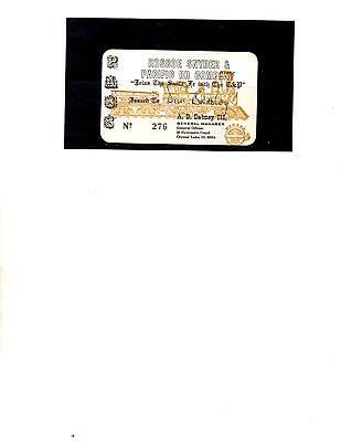 Roscoe Snyder & Pacific Rr Company  Pass (Item 0098)