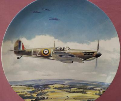 Coalport They Shall Not Pass Spitfire Plate Their Finest Hour Boxed +Certificate