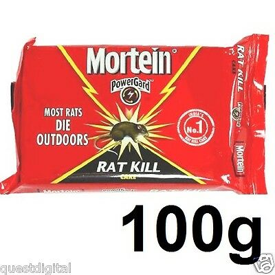 100g Mortein Rat Kill Cake Mouse Bait Rodent Block