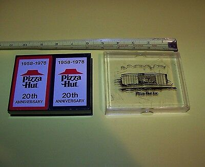 Pizza Hut 20th Anniversary Playing Cards 1958 - 1978  (2 Decks & Plastic Case)