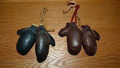 ***REDUCED***   2 PAIRS OF VINTAGE MINIATURE 1940/50s BOXING GLOVES