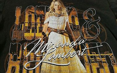 MIRANDA LAMBERT Locked & Reloaded Tour Brown T-Shirt S 2013 (B)