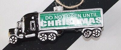 New Glass Blown Christmas Tree Ornament Delivery Container Van Open Truck Funky