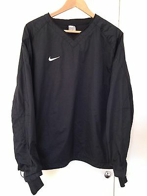 Nike Rugby/Football Windproof/Water Resistant Training Top (black, size Medium)