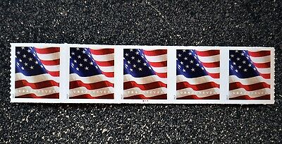 2017USA Forever U.S. Flag US - PNC Plate Number (#B1111) Coil Strip of 5 (BCA)
