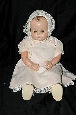 "Ideal Doll 18"" composition Body Made in U.S.A. with Cry Box in Torso"