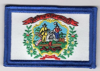 West Virginia State Flag Patch Embroidered Iron On Applique