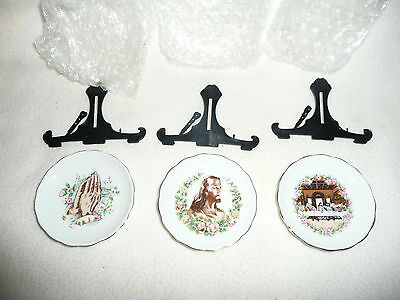 Joblot 30 New Religious Decorative Plates With Stands.easter/communion Gift