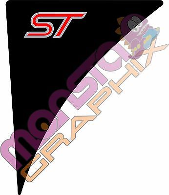 Ford Fiesta Mk7/7.5 Wing Badge Gel ST PAIR ~ Pick Your Colours!