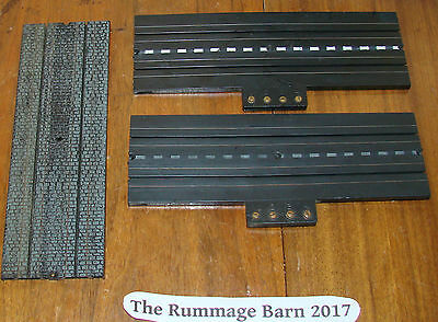 "LOT vintage AURORA Model Motoring TRACK #1509 cobblestone 9"" & 2 Terminal PIECES"