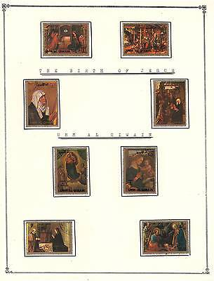 UMM AL QIWAIN Amazing Collection V.F. Used Stamps Hinged list The birth of Jesus