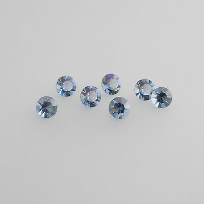 Glass montana Blue LOT (6 Pcs) 5,0 x 2,5mm Navette / BOX 4 (3)
