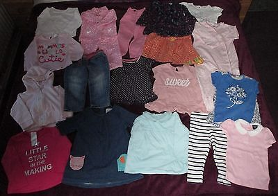 Baby Girl Clothes Bundle 12-18 Months Tops Leggings Trousers Pyjamas Dresses