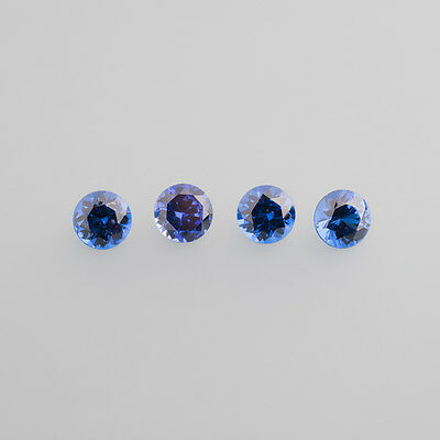 Glass Dark Blue LOT (3 Piece) 7,5 mm Round / BOX 4 (15)