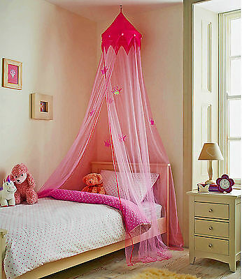 Princess Bed Canopy Pink Large Easy to Install Brand New In Box Fast Dispatch