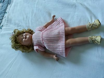 Vintage composition 1936  18-inch  Shirley Temple Doll  - some damage