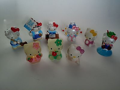Hello Kitty Toy Lot RARE Glow In The Dark 2000 2002 Lot of 9 Figures