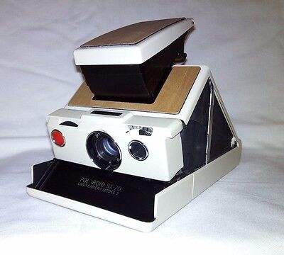 Polaroid SX-70 SLR Land Camera Model 2 Ivory Wood *Fully Working*