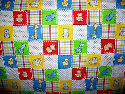 Little Ones Baby Animals Cotton Quilt  Fabric - 2005
