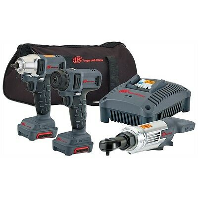 "IRT12V Cordless Combo Kit 3/8"" Impact Wrench 1/4"" Drive Ratchet Hex Bit Driver"