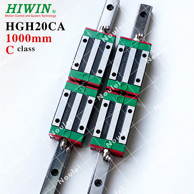 HIWIN Linear Rail, HGR20 1000mm CNC Kit set with 4pcs HGH20CA Guide Block