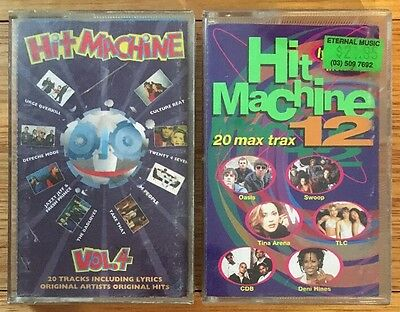 HIT MACHINE cassette tapes - Volume 4 and 12 - rare Australian tapes Fresh Princ