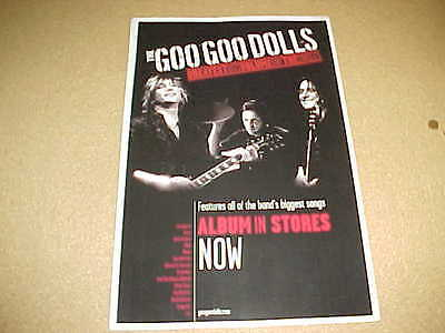 """GOO GOO DOLLS """"Greatest HIts"""" MINT cndt PROMO ONLY POSTER!"""