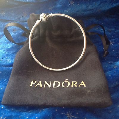 Authentic Pandora Bangle Sterling Silver With Pave Star Clasp
