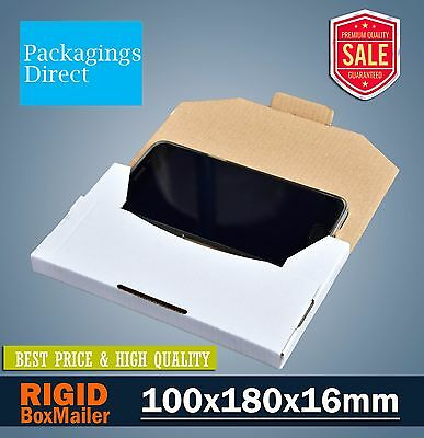 50x Mailing Box Superflat 180x100x16mm #00 Envelope Size Rigid Flat Mailer
