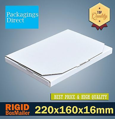 50 Mailing Box 220x160x16mm A5 Rigid Box Flat Mailer #01 Large Letter Envelope