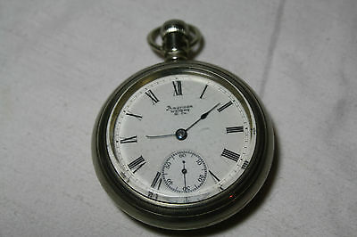 Antique American Waltham Watch Co. Size 18 Open Face Pocket Watch