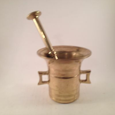 Solid Brass Vintage Mortar and Pestle Set Free Shipping