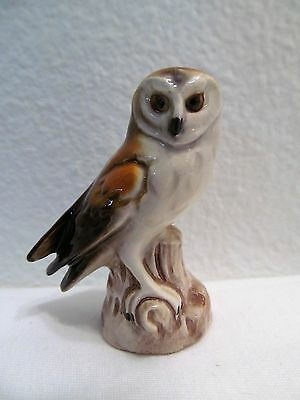 Vintage Goebel Porcelain Barn Owl Figurine Made In West Germany