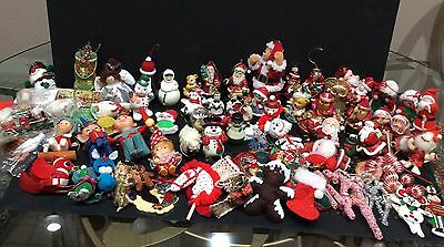 Over 100 Vintage Xmas Pixie Santa Angel Bear Glass Bendable Ceramic Ornaments