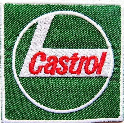 New Castrol Oil logo Racing embroidered iron on patch. 2.8 x 2.8 inch (i20)