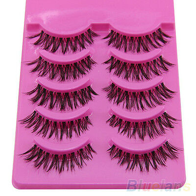 5 Pairs Long Natural Thick Handmade Makeup Fake False Eyelashes Eye Lashes