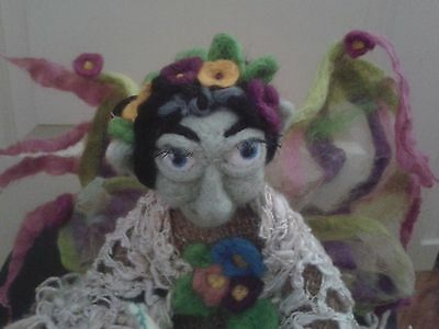 """Needle Felted Enchanted Fairy """" Hand Made"""""""