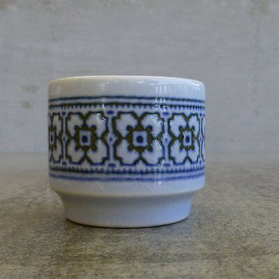 1 x Vintage Hornsea Tapestry Pottery Egg Cup Made in England 1973 - 1984 Blue