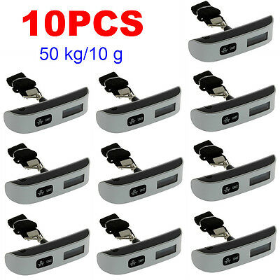 5X Portable 50kg Electronic Digital Weighing Hanging Suitcase Luggage Scale  XD