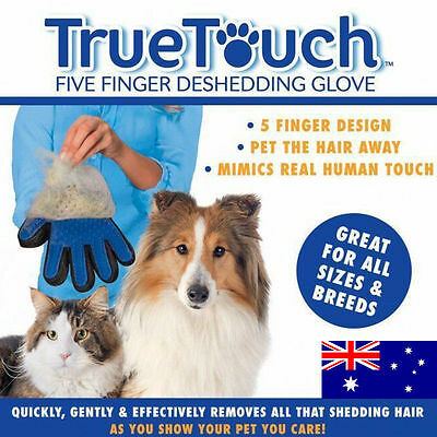 True Touch Deshedding Glove For Gentle And Efficient Pet Dog Cat Grooming